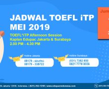 TOEFL ITP Test Afternoon Session May 2019