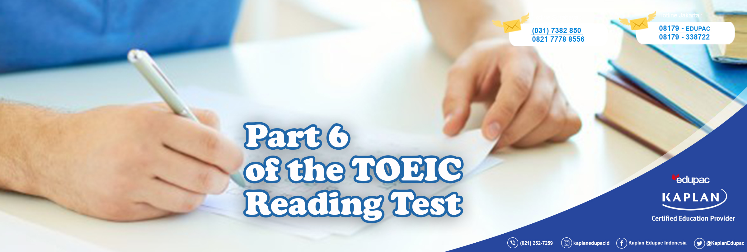 Part 6 of the TOEIC Reading Test