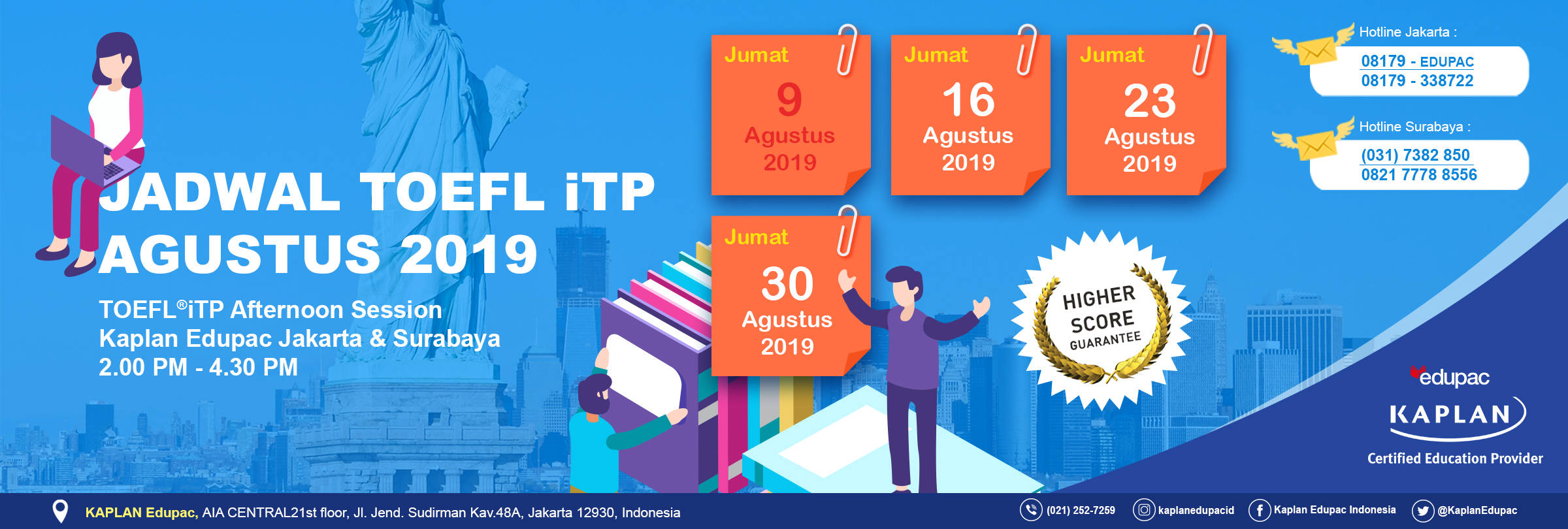 TOEFL ITP Afternoon Session August 2019