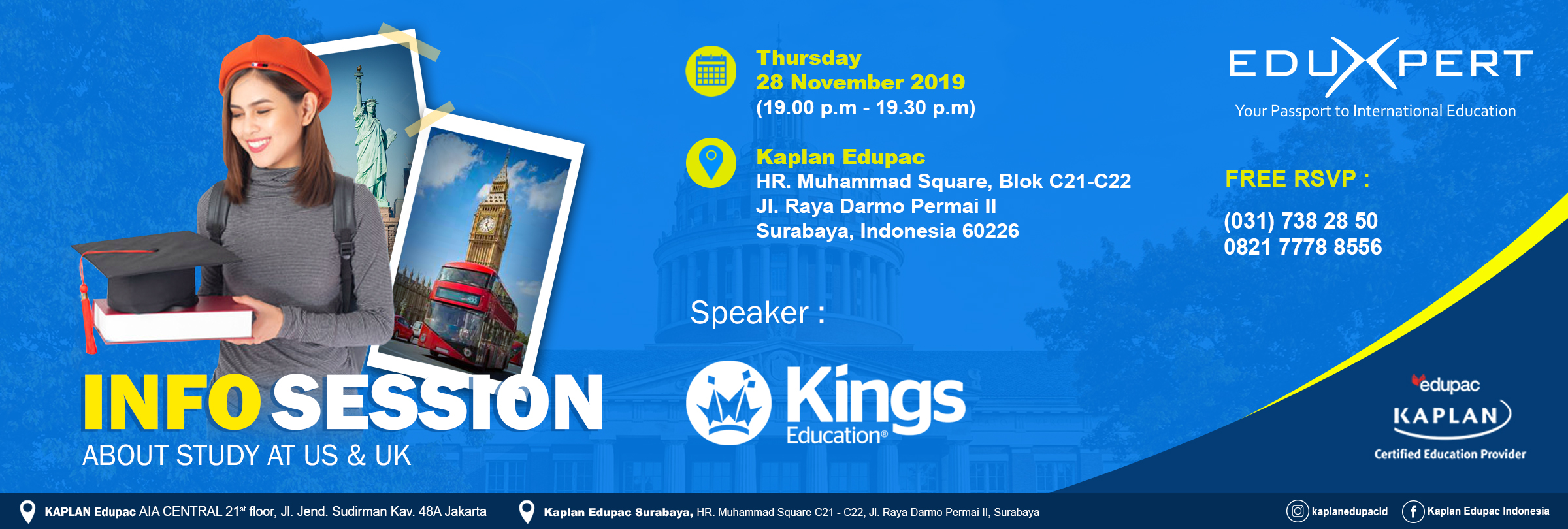 Kings Education : Info Session about study at US & UK