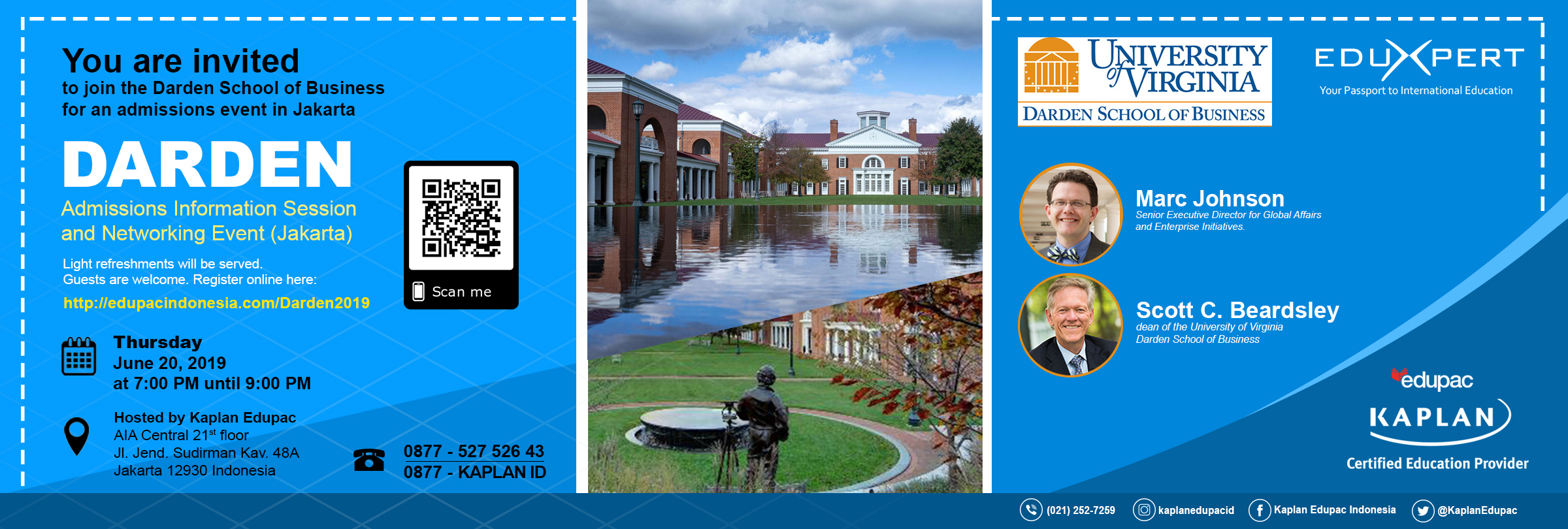 Darden will offer application fee waivers to any attendees who are applying to the Full-time MBA program.