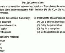 TOEIC® Test Listening Part 3:Conversations