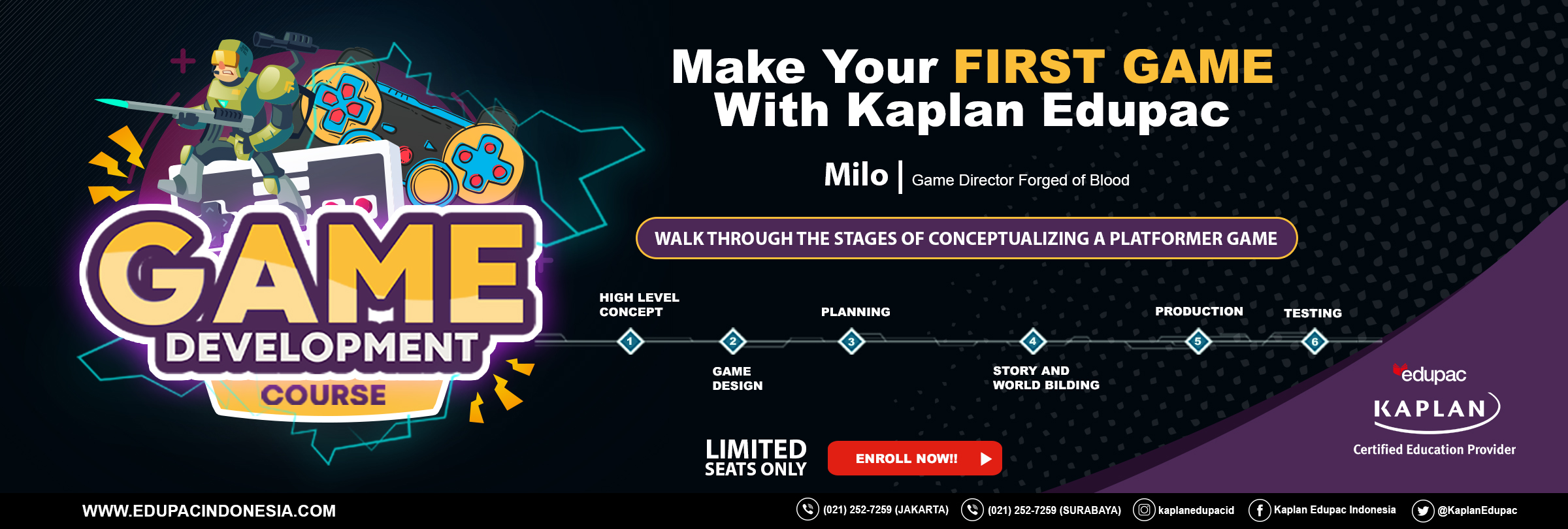 Make Your First Game with Kaplan Edupac (Game Development Course)